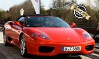 30, 45 od. 90 Min. Ferrari F355 Spider oder 360 Spider selber fahren inkl. 10 Min. Einweisung bei SpeedSafari ab 54,90 €