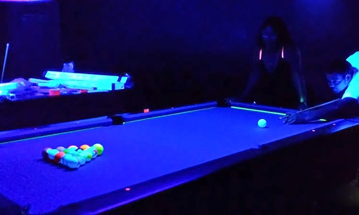 Break Room Billiards - Inverness: Unlimited Play of Cosmic Pool for One, Two, or Four at Break Room Billiards (Up to 50%Off)