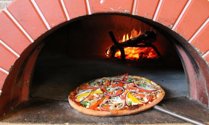 Fireside Wood Fired Pizza & Cafe - La Grange: Two Wood-Fired Pizzas with Optional Appetizer and Salad at Fireside Wood Fired Pizza & Cafe (Up to Half Off)