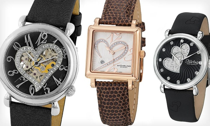Stührling Original Women's Watches: Stührling Original Women's Watches with Diamonds or Swarovski Crystals (Up to 90% Off). 8 Styles Available.