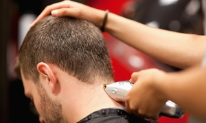 Penski Salon: One or Three Men's Haircuts or a Haircut with Massage and a Steam Towel (Up to 60% Off)