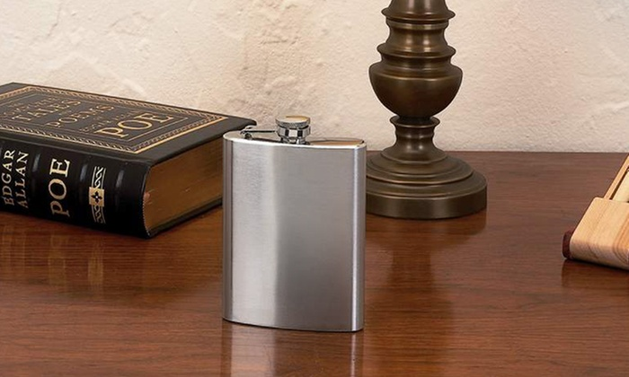 Stainless Steel Hip Flask: Sleek and Sturdy Stainless Steel Hip Flask with 8 Fl. Oz. Capacity. Free Returns.