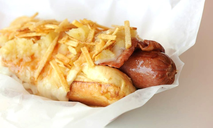 Sweet Dogs - Flagami: $15 for a Hot Dog Meal with Sides and Drinks for Two at Sweet Dogs ($26.70 Value)