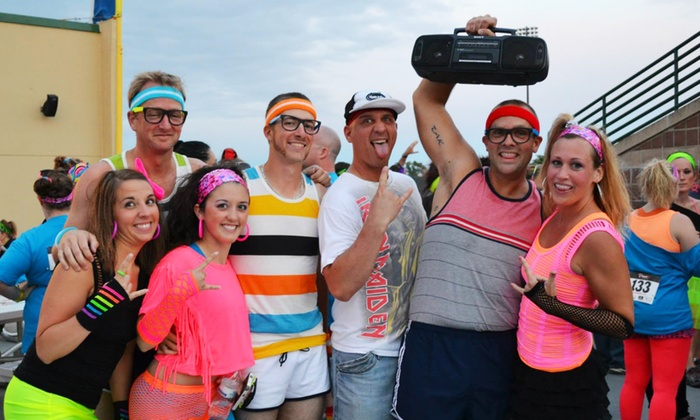 Totally RAD 80s Run - Aksarben - Elmwood Park: Entry for One or Two to the Totally Rad 80s Run on Sunday, April 6 (44% Off)