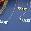 Personalized Zip Code or Date Necklaces