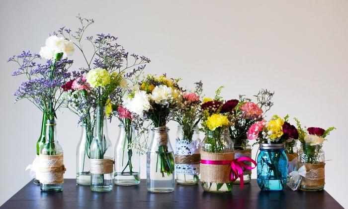BYOB Vase-Decorating Class - Albany Park: Create a Custom Vase from Reclaimed Glassware