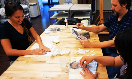 One-Hour Art Class for One, Two, or Four at Art Bar (Up to 55% Off)