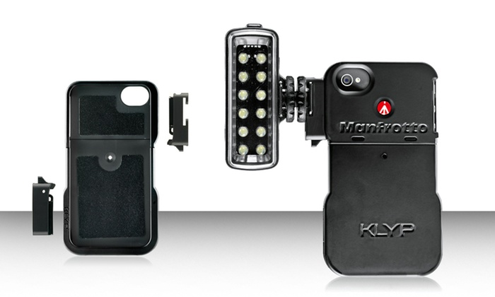 Manfrotto KLYP iPhone 4/4S Case with Optional ML120 LED Light: Manfrotto KLYP iPhone 4/4S Case with Optional ML120 LED Light. Free Shipping and Returns.