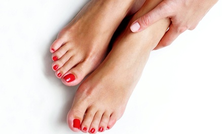 Shellac Manicure, Mani-Pedi, or Shellac or Spa Manicure and Pedicure at 221 Degrees Salon & Spa (Up to 52% Off)