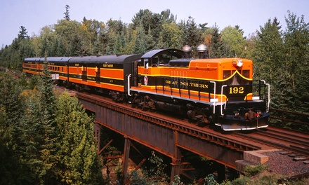Lester River or Music and Pizza Train Excursion for Two or Four at North Shore Scenic Railroad (Up to 55% Off)