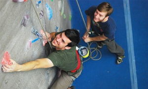 Triangle Rock Club: Intro to Climbing Class with a Two-Week Club Membership for One or Two at Triangle Rock Club (Up to 65% Off)
