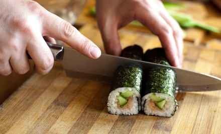 $50 for Two-Hour Sushi-Making Class for Two at Sushi Academy ($100 Value)