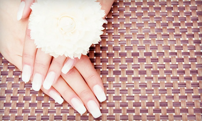 SparknShine - Skyrattler: Full Set of Gel or Bio Sculpture Gel Nails with Optional Fill at SparknShine (Up to 52% Off)