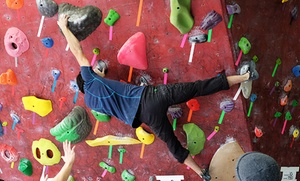 The Circuit Bouldering Gym: Bouldering Day Pass for Two, Five-Visit Punch Pass, or Intro Class for Two (Up to 68% Off)