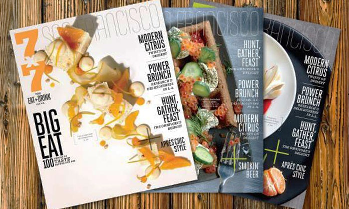 "7x7 magazine: $7 for a One-Year Subscription to ""7x7"" Magazine with E-Newsletter ($15 Value)"