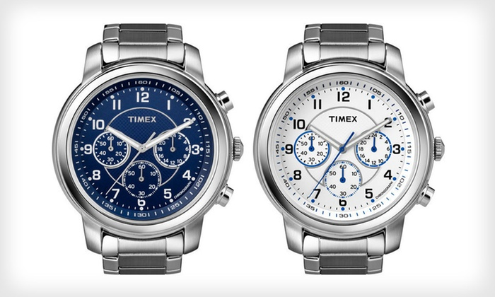 Timex Men's and Women's Watches: Timex Men's and Women's Watches (Up to 68% Off). 14 Options Available. Free Shipping and Free Returns.
