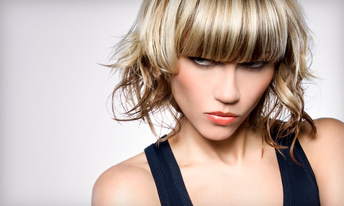 Textures Hair Salon - Springfield: Haircut and Style with Half or Full Highlights at Textures Hair Salon (51% Off)