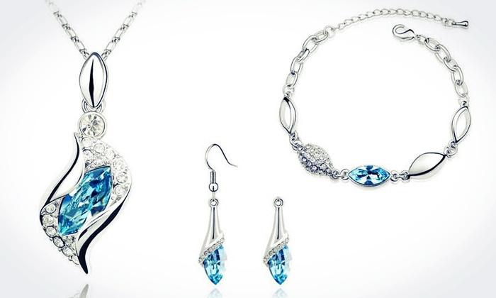 Petalouda: Swarovski Crystal Jewellery Set or C$10 for  C$20 Worth of Jewellery and Accessories at Petalouda