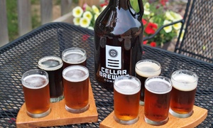 Cellar Brewing Company: $15 for a Wine, Beer, or Spirit Sampler for Two, Plus Credit at Cellar Brewing Company (Up to a $28 Value)