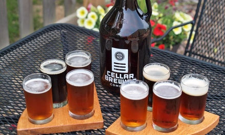 $15 for a Wine, Beer, or Spirit Sampler for Two, Plus Credit at Cellar Brewing Company (Up to a $28 Value)