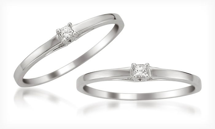 Diamond-Accented Promise Ring Set in 10-Karat White Gold: $124.99 for a Diamond-Accented Promise Ring Set in 10-Karat White Gold ($249.99 List Price). Free Shipping and Returns.