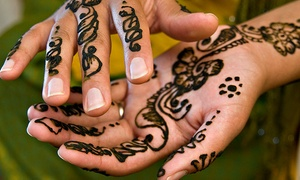 "Beena Salon: 3""x1"" or 6""x1.5"" Henna Tattoo at Beena Salon (50% Off)"