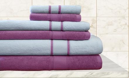 6-Pc. Egyptian Cotton Towel Set | Groupon Goods