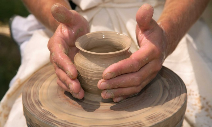 Fire and Mud Studios - San Marcos: Wheel or Hand-Building Pottery Classes at Fire and Mud Studios (Up to 59% Off). Four Options Available.