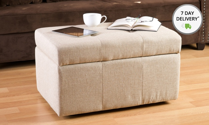 Tufted Plush Emerson Storage Ottomans: Emerson Tufted Plush Storage Ottomans. Multiple Colors Available. Free Shipping. Free Returns.