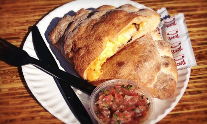 Sky Bar - West University: Three or Six Breakfast Calzones at Sky Bar (Up to 54% Off)
