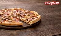 Pizza mediana o familiar de masa fina de hasta 5 ingredientes o especialidad desde 4,95 € en Telepizza
