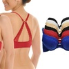 Angelina Wired Front-Closure Bras with Convertible Back (6-Pack)