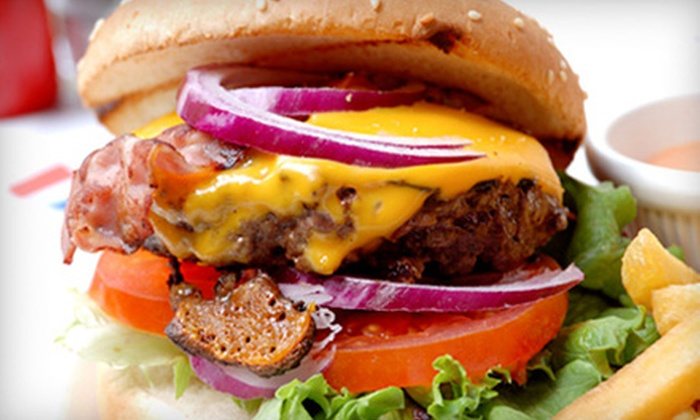 City Sports Grille at Spare Time - Multiple Locations: Burgers, Pizza, and Food at City Sports Grille at Spare Time (Half Off). Two Options Available.