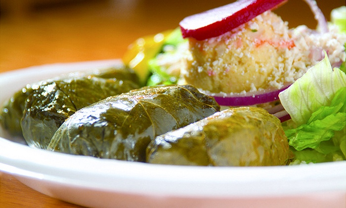 Little Greek - Multiple Locations: $11 for Two Greek Entrees at Little Greek (Up to $21.98 Value)