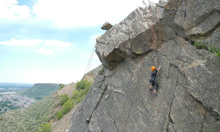 Apex Ex - Denver: Half-Day Basic or Full-Day Intermediate Rock-Climbing Trip for One or Two from Apex Ex (Up to 70% Off)