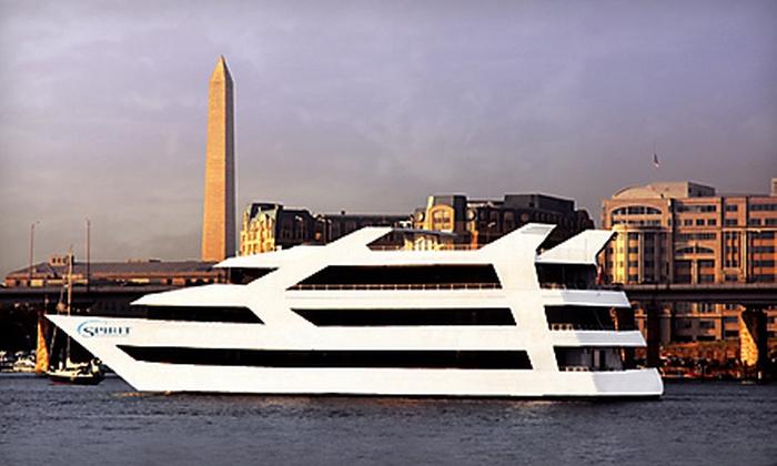 """Entertainment Cruises - Southwest - Waterfront: Dinner Cruise Aboard """"Spirit of Washington"""" on Sunday–Friday or on Saturday from Entertainment Cruises (Up to Half Off)"""