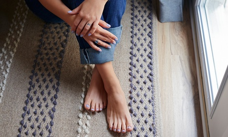 Gel Manicure and Pedicurewith Optional Full-Body Spray Tan at Fab Beauty