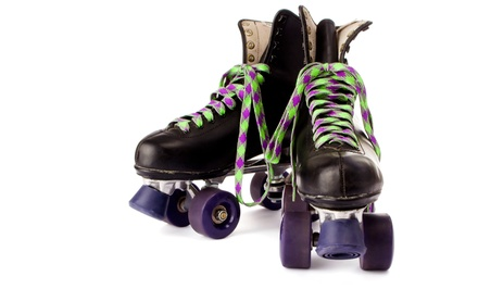 Food 'n Fun Combo Package or Roller Skating and PlayDazium Admission for Two or Four at SkateDaze (Up to 50% Off)
