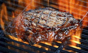 Las Brasas de Vulcano: Carne a la parrilla de carbón con entrante, postre y bebida para 2 o 4 desde 24,95 € junto a la plaza Santa Ana