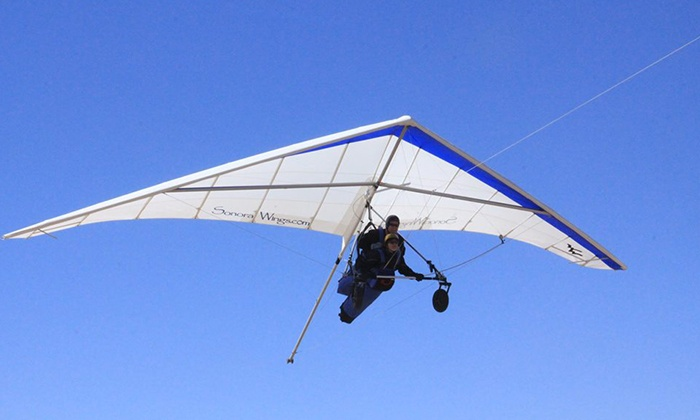 Sonora Wings - Copper Mountain Ranch: Tandem Discovery Hang-Gliding Flight or Sunset Flight for One or Two at Sonora Wings Hang Gliding (Up to 50% Off)
