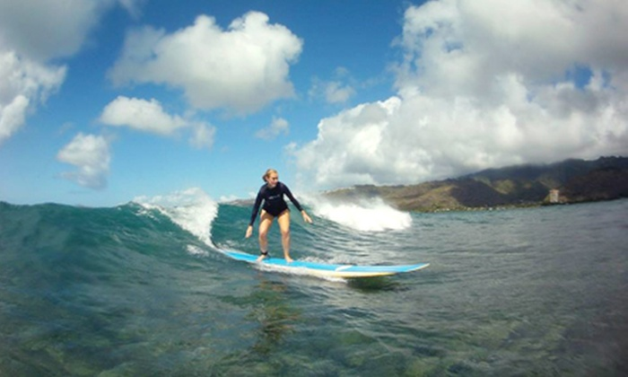 Hawaiian Surf Adventures - Hawaii Kai: Two-Hour Surf Lesson from Hawaiian Surf Adventures (Up to 53% Off). Three Options Available.