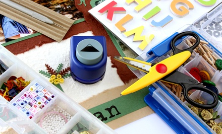 Scrapbooking Materials and Supplies at The Sassy Scrapper (50% Off). Two Options Available.