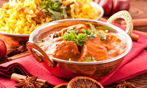Maya Indian Restaurant: Two-Course Indian Meal with Sides and Drinks for Two or Four at Maya Indian Restaurant (Up to 74% Off)