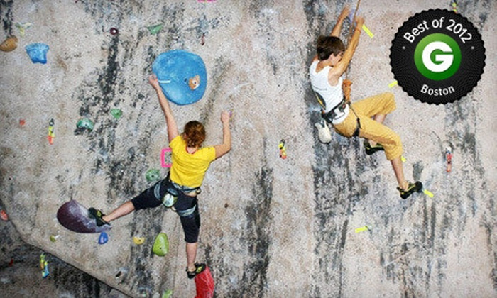 MetroRock - Multiple Locations: 10 Visits, One-Month Membership, or Two-Hour Rock-Climbing Challenge Course for Up to 12 at MetroRock (Up to 68% Off)