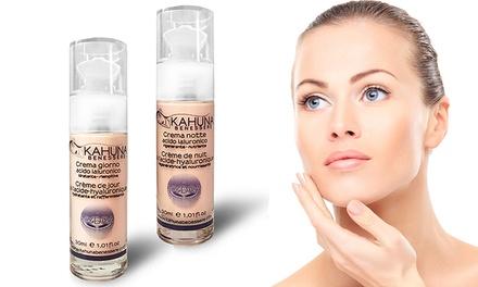 Crema viso giorno o notte all'acido ialuronico Kahuna Benessere per donna da 30 ml