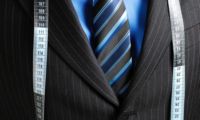 Empire Customs - Downtown Toronto: $599 for Custom Men's Cashmere Suit, Shirt, and Silk Tie, or Custom Overcoat at Empire Customs (Up to $1,385 Value)