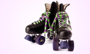 Fun Factory Roller Skating: Roller Skating for Two or Four with Pizza, Drink, and Arcade Tokens at Fun Factory Roller Skating (Up to 57% Off)