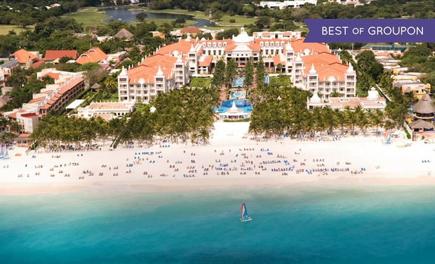 TripAlertz wants you to check out ✈ 4, 6 or 7-Night All-Inclusive Riu Palace Riviera Maya Trip with Nonstop Air. Price/Person Based on Double Occupancy. ✈ All-Incls. Riu Palace Riviera Maya Trip w/ Air from Vacation Express - All-Inclusive Mexico Vacation