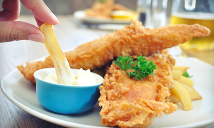 Dominion House - Sandwich: Pub Dinner for Two, or $9 for $20 Worth of Pub Food and Drinks at Lunch at Dominion House