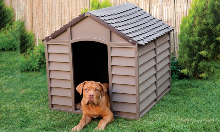 grande niche pour chiens groupon. Black Bedroom Furniture Sets. Home Design Ideas